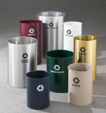 Open Top RecylePro Recycling Receptacles