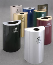 Profile Half Round Recycling Receptacles