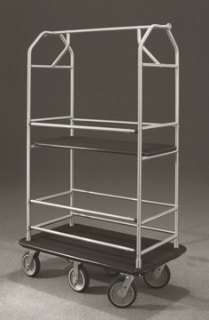 "Six Wheel Value Condo Cart 1"" Tubing #5648 Satin Aluminum"