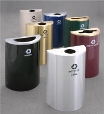 Value Half Round Recycling Receptacles