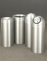Glaro Satin Aluminum Value Waste Receptacles