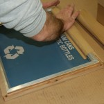 Glaro Technicians Preparing Silk Screening for Recycling Receptacles