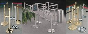 Glaro Crowd Control Stanchions, Posts, Belts and Railing Systems