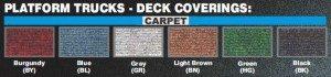 Platform Trucks Carpet Colors on Glaro Inc. Carts