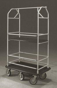 Glaro Inc. Condo Cart 5648 Satin Aluminum Multi-Shelf