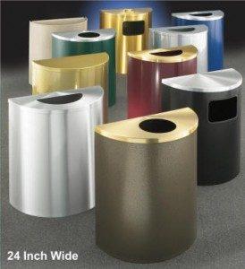 24 inch glaro inc half round wate receptacles
