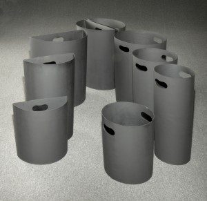 Glaro Inc. rigid plastic inner liners for receptacles