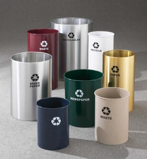 Open Top Recycling Receptacles