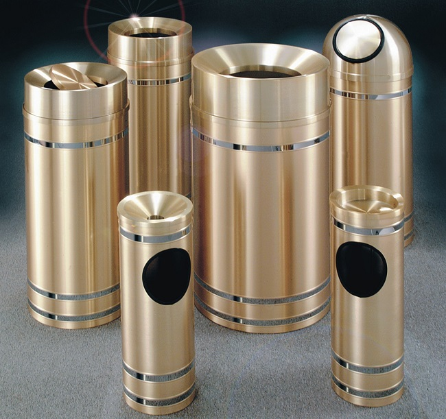 The Capri Brass Waste Receptacle Collection