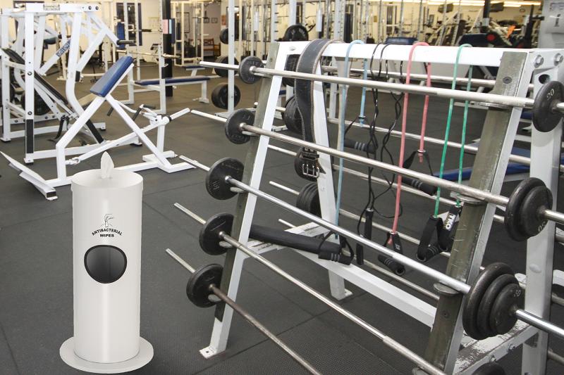 Glaro Floor Standing Gym Wipes Dispenser